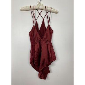 LA SENZA - Satin Lace Bodysuit